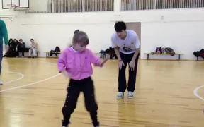 Little Girl Performing Amazing Dance Choreography