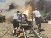 The Toil Behind Action Movie Shooting!