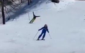 Master Skier Or Birdman On Vacation?