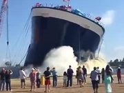 That Is So Not A Good Omen For A Ship Launch!