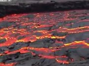 Stream Of Red Hot Lava