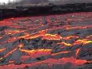 Stream Of Red Hot Lava