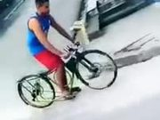 Performance Of Low Bicycle On A Road