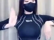 Here's A Ninja Woman Doing Tricks With Her Hands