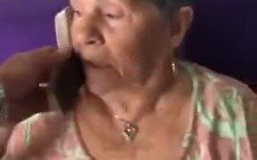 Prank On A Poor Sleeping Grandma