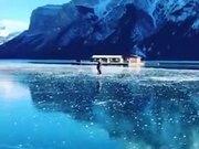 Crystal Clear Frozen Lake