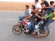 8 People On A Bike And Wheelies