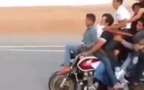 8 People On A Bike And Wheelies