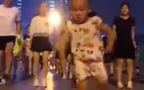The Kid Does His Steps Better Than The Adults