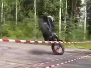 What An Amazing Trick On A Dirtbike