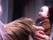 Baby Absolutely Loves Chewbacca