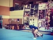 Amazing Gymnastic Trick By A Young Girl