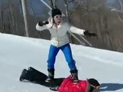 Who Needs Snowboards When You Have Friends