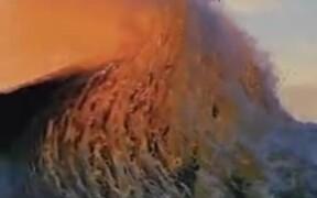Scenic Sunset And The Crashing Waves