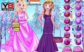 Elsa With Anna Dressup Walkthrough