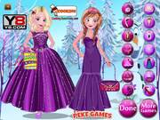 Elsa With Anna Dressup Walkthrough