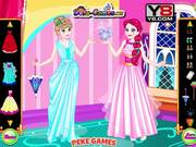 Elsa with Anna Dress Up Walkthrough