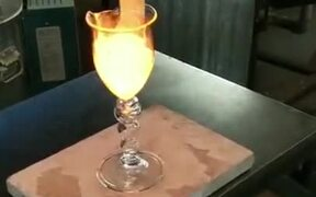 Molten Glass In A Goblet