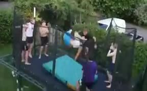 When The Whole Squad Joins In For The Trampoline