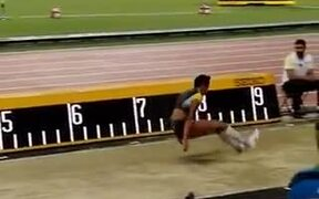 Amazing 7.30m jump by Malaika Mihambo