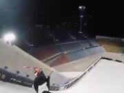 Ski Master Does Amazing Trick Backward