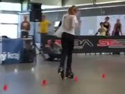 Girl On Roller Skates Really Knows Her Stuff