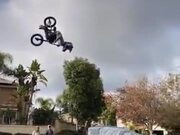Kid Pulls Off A Sick BMX Stunt!