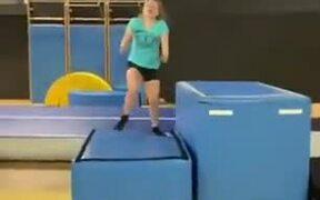 Gymnastics Practice Didn't Go According To Plan