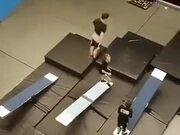 Amazing See Saw And Gymnastics Performance!
