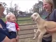 Human Baby And Baby Goat Share The Same Language!