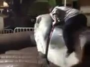 Woman Rides On A Twerking Mechanical Bull!