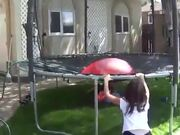 Huge Water Balloons + Trampoline = Fun!
