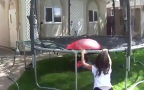 Huge Water Balloons + Trampoline = Fun!