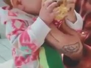 Baby Eats Ice Cream For The First Time