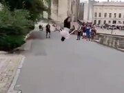 Guy's Backflip Streak Is Off The Charts!