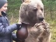 Russians Don't Keep Dogs, They Keep Bears As Pets