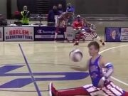 Basketball Player Knows Some Amazing Tricks!