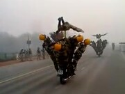 The Indian Army With Their Bike Stunts!