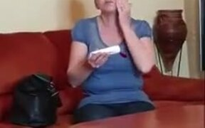 Guy Fiddles Around With Mother's Face Cream