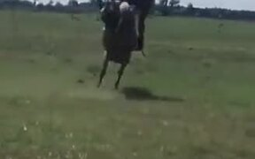 Guy Does A Full 360° On Rowdy Horse!