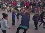 Kid With Pro Dancing Moves At A Kid's Dance Party!