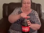 Grandma Was Skeptical About The Coke And Mentos