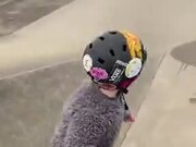 Little Toddler Tries Out Some Skateboarding!