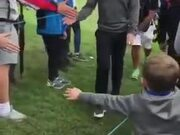 This Kid Got Way More Than Just A High Five!
