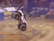 Monster Truck Almost Tips Over