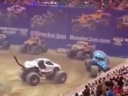 Monster Truck Almost Tips Over
