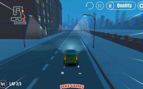 3D Night City: 2 Player Racing Walkthrough