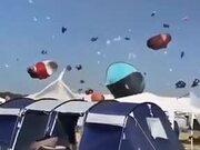 When A Tornado Hits A Camping Spot!