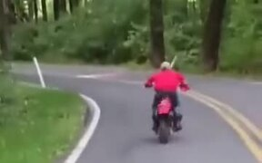 That's One Bumpy Motorcycle Ride For Sure!