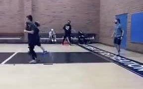 Basketball Player's Moonwalking Skills Are On Fire